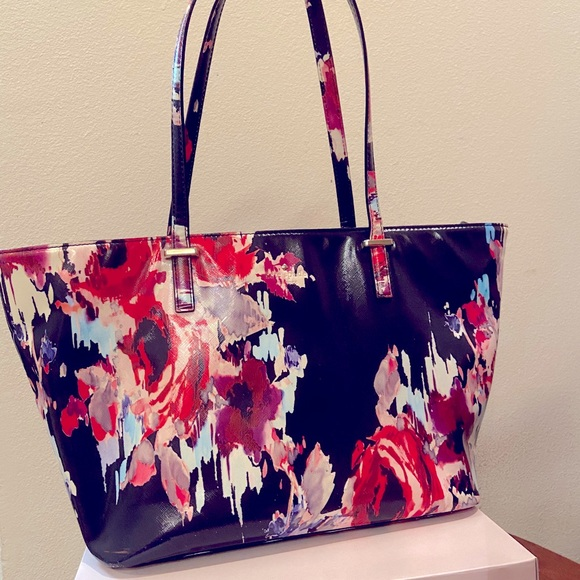 KATE SPADE Blake Avenue blurry floral tote